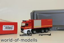 Herpa 091589 MB Actros Streamspace 4-achs Abrollcontainer-LKW Feuerwehr 1:87 H0