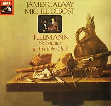 HQS 1368 JAMES GALWAY/MICHEL DEBOST telemann 6 sonatas for 2 flutes LP PS EX-/EX