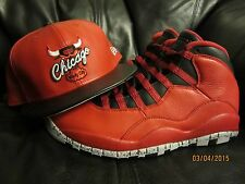 CHICAGO BULLS AIR JORDAN 10 ( X ) BULLS OVER BROADWAY ERA  SNAPBACK HAT
