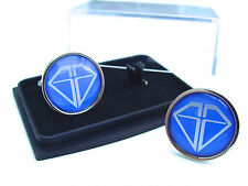 JAMES BOND 007 GRAVES DIAMONDS CORPORATION BADGE MENS CUFFLINKS GIFT