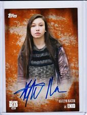 The Walking Dead Temporada 5 autógrafo tarjeta Katelyn NACON como Enid 33/99
