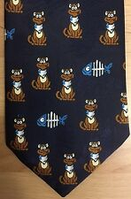 Novelty Fun Tie Cat Kitten Fish Birthday Birthday Gift Idea Brand New