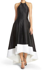 Carmen Marc Valvo Infusion New Embellished Colorblock Halter Gown Size 8 #CN 662