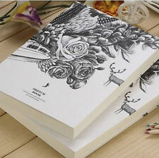 Upscale Art Blank Paper Drawing Sketch Scrawl Pad Note Book Dairy Journal Gift