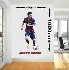 Personalised Messi Barcelona Football Player Wall Art Vinyl Decal Sticker
