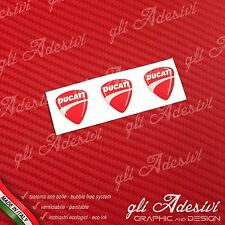 3 Adesivi Resinati Sticker 3D Ducati New Red 20 mm