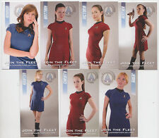 2011 SDCC COMIC CON STAR TREK LADIES OF THE FLEET PROMO CARD SET OF ALL 7