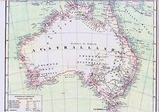 Echte 157 Jahre alte Landkarte AUSTRALIEN 1860 Australia English Colonies 1841