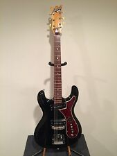 Univox Custom Hi Flier Phase 1- Late 60's Black Tortoise Shell Guitar W/Case