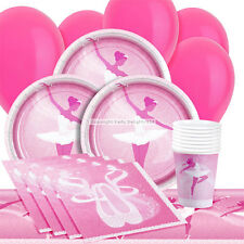 Ballet Party Set for 16 Girls Pink Ballet Party Supplies Decorations Balloons
