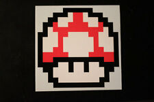 8 Bit Red Mushroom Sticker Decal