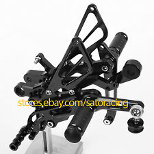 CNC Rear Sets Foot Pegs For Yamaha YZF-R6 2006-2013 2007 2008 2009 2010 11 Black