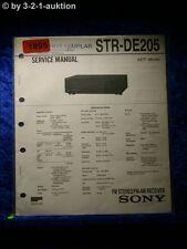 Sony Service Manual STR DE205 Receiver  (#1895)