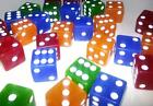 10 x MIXED LARGE CASINO STYLE Six Sided Dice 19mm Craps - FREE SHIPPING