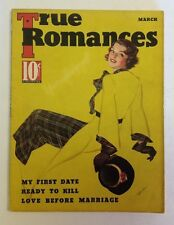 True Romances Magazine    March 1936     Cool Vintage Ads