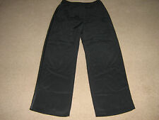 LADIES BLACK TROUSERS-SIZE12-BY NEXT-WORN ONCE-EXC COND-HAS SATINY SIDE STRIPE