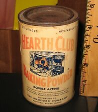 vintage Rumford Hearth Club Baking Powder Can pre-zipcode 1950's? general store