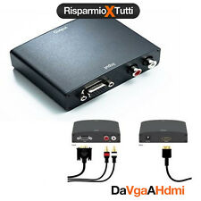 CONVERTITORE DA ANALOGICO VGA + AUDIO R/L A HDMI TV MONITOR PC VIDEO CONVERTER