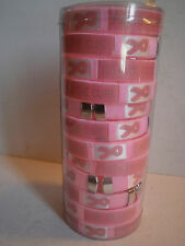 Wholesale Lot of 12 Breast Cancer Awareness Pink Bracelets Find A Cure New Cuff