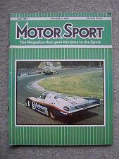 Motor Sport (July 1983) Ford Sierra XR4i Road Test, Le Mans, Canada GP, MG Metro