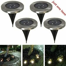 Solar Powered LED Buried Inground Light Garden Outdoor Pathway Path Lawn Lamp