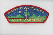 CSP Palmetto Council BSA SC S-2 Cloth Back 701244