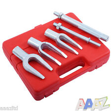 5pc Tie Rod Ball Joint Remover Kit Pitman Arm Splitter Separator Fork Type