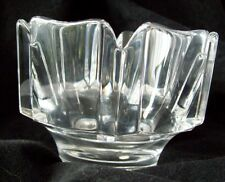Orrefors Clear Crystal Mini Corona Bowl Designed by Lars Hellsten