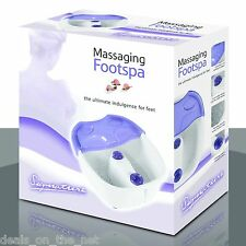 Signature Wet OR Dry Vibrating Comfort Foot Spa / Massaging Rolling Footspa