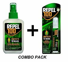 Repel 100 Insect Mosquito Repellent COMBO PACK Sprays 98% DEET 94108 94098