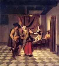 A3 Box Canvas Pieter de Hooch Paying the Hostess