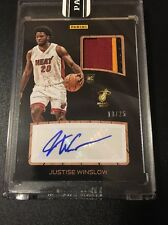 2015-16 Panini NBA Finals Promo Justise Winslow Rookie Patch Auto RPA Card /25