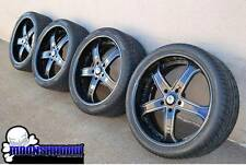 "24"" ASANTI AF165 BLACK WHEELS RIMS TOYOTA TUNDRA SEQUOIA LEXUS LX FORGIATO TOYO"
