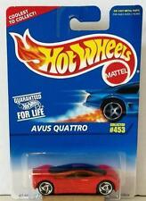 HOT WHEELS AVUS QUATTRO #453 RED 1996 MOC DIECAST