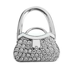 Portable Table Foldable Purse Bag Rhinestone Hanger Wallet Hook Holder Gift