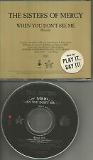 SISTERS OF MERCY When you Don't See Me RARE REMIX PROMO CD Single Play STICKER