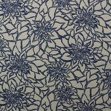 """RICHLOOM MAITLIN PACIFIC BLUE FLORAL OUTDOOR INDOOR FABRIC BY THE YARD 54""""W"""