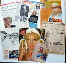 SYLVIE VARTAN =  LOT DE 9 COUPURES DE PRESSE // FRENCH CLIPPINGS