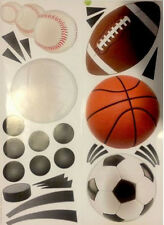SPORTS wall stickers 24 big decals decor baseball soccer football volleyball +