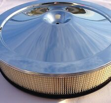 Chevrolet Corvette Chrome Air Cleaner Assembly Top Lid Base Square Filter READ
