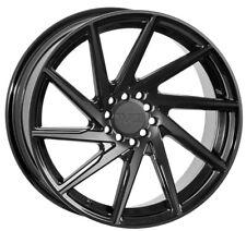 17X8.5 +38 F1R F29 5X100 BLACK WHEELS Fits Vw Jetta Golf Gti Passat Scion TC XD