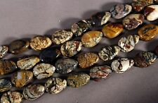"NATURAL GEMSTONE PIETERSITE 18x12MM LONG DRILLED TEARDROP BEADS 15.5"" STRAND"
