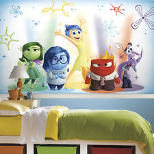 New XL INSIDE OUT MOVIE PREPASTED WALLPAPER MURAL Kids Disney Bedroom Wall Decor