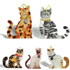 125 Die-cut Cat Gift Tags with Detachable Collar; Siamese, Tabby Cat etc