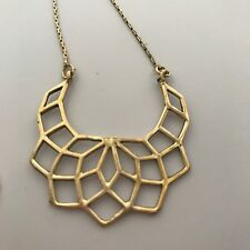 Half Moon Flower of Life Sacred Geometry Pendant Chain Necklace