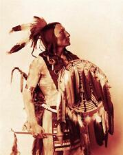 SIOUX WARRIOR KILLS ENEMY PHOTO NATIVE AMERICAN INDIAN OLD WEST 1899  #21279
