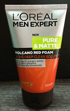 100mL NEW LOREAL MEN EXPERT Pure Matte Volcano Face Wash Anti Acne Foam Cleanser