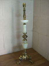 Large Brass and Veined Alabaster Ornate French/Italian Styled Side/Table Lamp