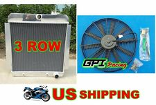 3 ROW1955-1959 CHEVY PICKUP TRUCK Aluminum Radiator 1956 1957 1958 +FAN