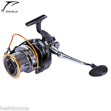 DIAO DE LAI Lj9000 4.11:1 Metal Spool Spinning 12 + 1 Ball Bearings Fishing Reel